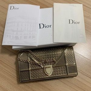 Dior bag clutch wallet with chain
